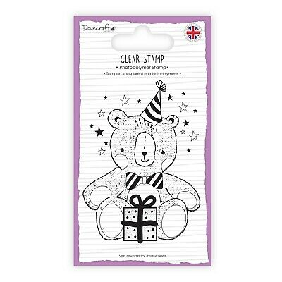Dovecraft  A7 Photopolymer Unmounted Clear Stamp Made In The UK - TEDDY BEAR • 3.49£