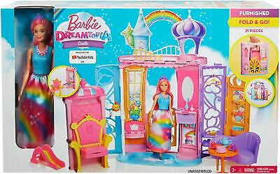 £45.11 • Buy Barbie Dreamtopia Rainbow Cove Castle & Doll Playset Furnished Frb15 *new*