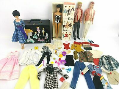 $ CDN595.45 • Buy Vintage 1960's Vintage Brunette Ponytail Barbie W/ 1960 Brunette Bubble Cut Lot