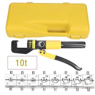 £22.99 • Buy 10 Ton Hydraulic Crimper Dies Crimping Tool Hose Battery Cable Wire Lug Terminal