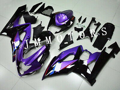 $530 • Buy For GSXR1000 2005 2006 ABS Injection Mold Bodywork Fairing Kit Cowl Black Purple