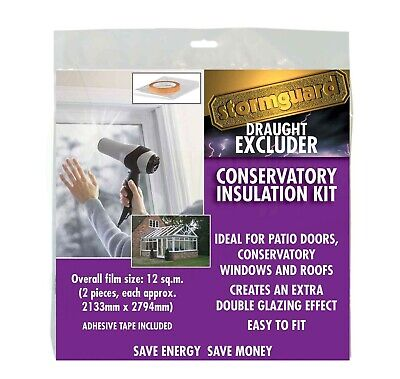 £16.49 • Buy Conservatory Window Insulation Secondary Double Glazing Film Draught Excluder