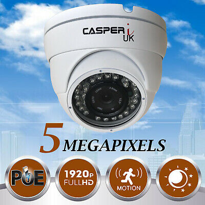 5MP HD Wired PoE IP Camera Waterproof Outdoor IR Speed Dome LED CCTV Security UK • 49.36£