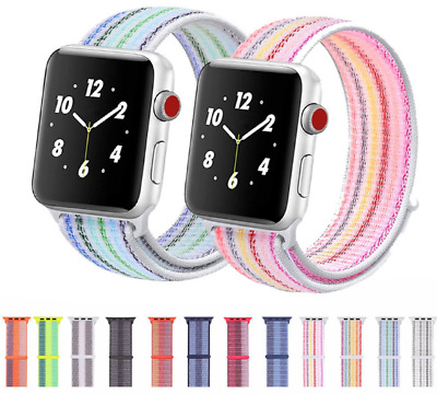 $ CDN8.99 • Buy Three-color Nylon Woven Band Strap For Apple Watch IWatch Series 5 4 3 2 1