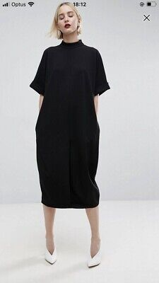 AU22 • Buy ASOS White Ovoid Dress Black Size 6