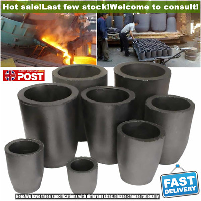 Graphite Furnace Casting Foundry Crucible Ingot Tool Graphite Crucible 6/8 Kg • 16.69£