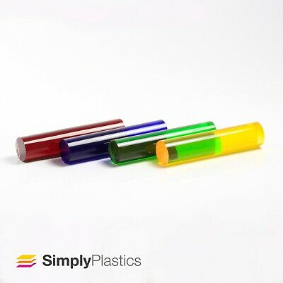 £6.59 • Buy Coloured Tinted Extruded Acrylic Plastic Perspex Rod / Various Diameters