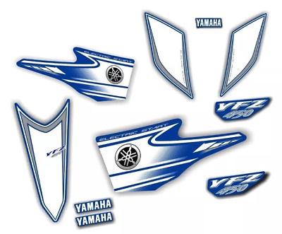 AU133.68 • Buy Decals Graphic Stickers Yamaha Yfz450 Carburator Blue
