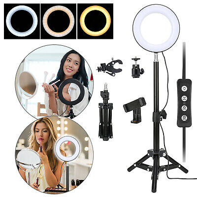 AU32.99 • Buy 6 /10  Dimmable Diva LED Ring Light Tripod Stand Selfie Mini Circle Lamp Make Up