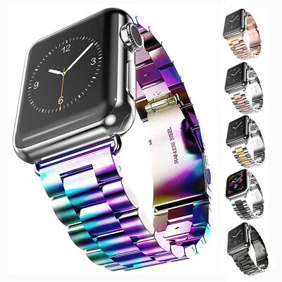 $ CDN12.23 • Buy For Apple Watch Series 5 4 3 2 Stainless Steel Band Strap Bracelet 38/42/40/44mm