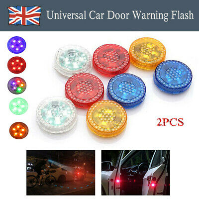 2/4Ps LED Car Door Opening Warning Light Safety Flash Signal Lamp Anti-Collision • 5.29£