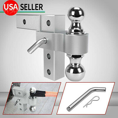 $76.89 • Buy 6061 Aluminum Dual-Ball 6'' Adjustable Mount Trailer Towing Hitch 2  & 2-5/16