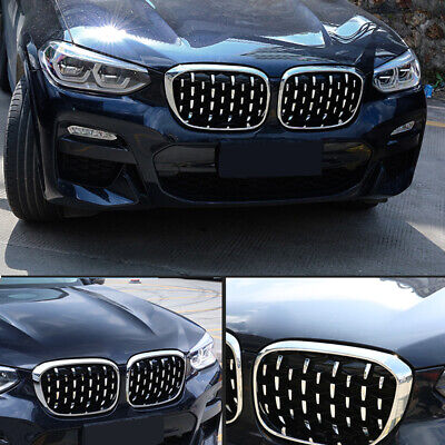 AU162 • Buy For BMW X3 G01 2018-2020 Front Center Radiator Grille Honeycomb Cover Trim 2pcs