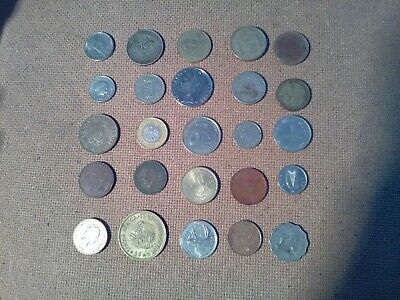 Foreign Coins. 25  All Different Countries. • 4.50£