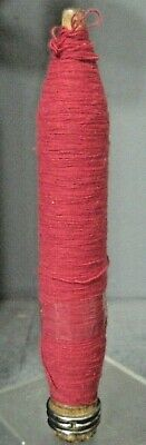 $5 • Buy 9 Inch Wooden Industrial Textile Spindle Bobbins Spool Quill W/ Red  Thread