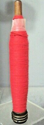 $5 • Buy 8 Inch Wooden Industrial Textile Spindle Bobbins Spool Quill W/ Red Thread