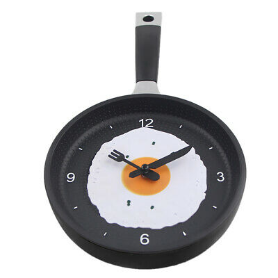 Blesiya Modern Wall Clock,Frying Pan Shaped With Fried Egg Silent Wall Clock • 10.17£