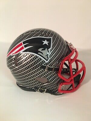 $64.99 • Buy PATRIOTS Custom Carbon Fiber Riddell Speed Mini Helmet