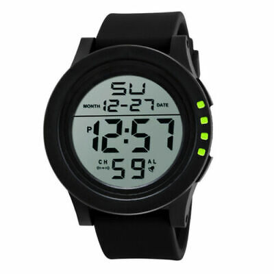 LED Screen Digital Sports Watch Men's Watches Stopwatch Date Military Waterproof • 5.93£