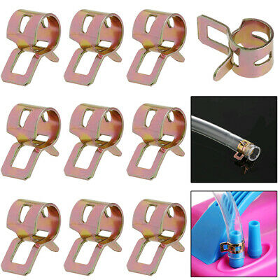 $ CDN1.29 • Buy 10x 8mm Spring Clips Clamps Fuel Oil Water Line Hose Pipe Air Tube Fastener Kit