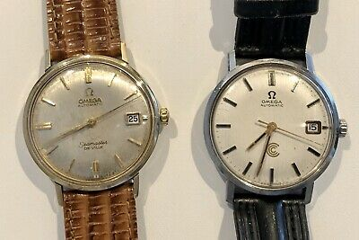 $ CDN575 • Buy Lot Of 2 Omega Date Solid Back 34mm Watches
