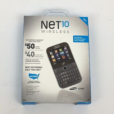 $37 • Buy SEALED New Net10 Wireless Samsung S390G Cell Phone Black Tracfone NO CONTRACT!