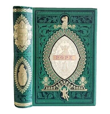 $149.99 • Buy The Poetical Works Of Alexander Pope Antique Ornate Victorian Angel Cover
