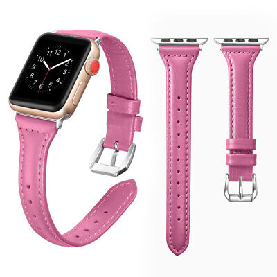 $ CDN5.98 • Buy Genuine Leather Watch IWatch Series 4 3 2 1 Band Wrist Strap For Apple Watch New