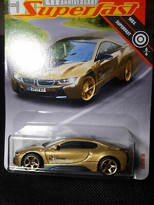 $5.50 • Buy MATCHBOX SUPERFAST 50TH TARGET GOLD CHASE SERIES #6 BMW I8 Highly Detailed Model