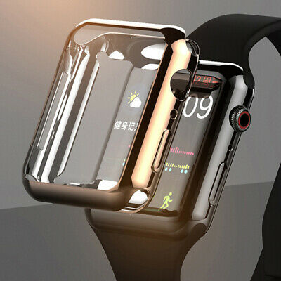 $ CDN5.37 • Buy For Apple Watch Series 5 4 3 2 1 Ultra-thin TPU Full Case Cover Screen Protector