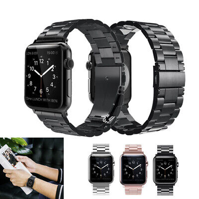 $ CDN13.01 • Buy Stainless Steel Metal Strap Watch Band For Apple Watch 5 4 3 2 1 38 40 42 / 44MM
