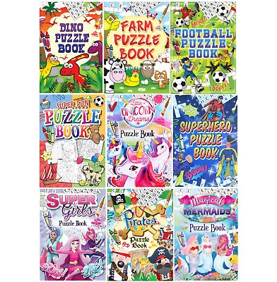 £2.39 • Buy Childrens Puzzle Colouring Activity Book Party Bags Fillers Pinata Prizes Kids