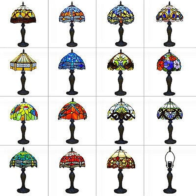 £64 • Buy Tiffany Style Table Lamp Handcrafted Art Bedside Light Desk Lamps Stained Glass