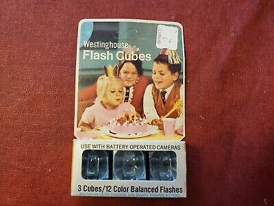 $9.42 • Buy Vintage WESTINGHOUSE Flash Cubes 3-Pack 12 Color Balanced Flashes Camera