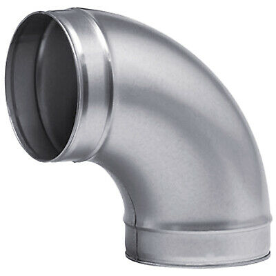 90 Degree Metal Ducting Elbow Joint Bend Connector Ventilation Pipe Fitting Bend • 24.72£