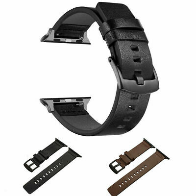 $ CDN10.99 • Buy Genuine Leather Wrist Watch Band Strap For Apple Watch Series 5 4 3 2 1