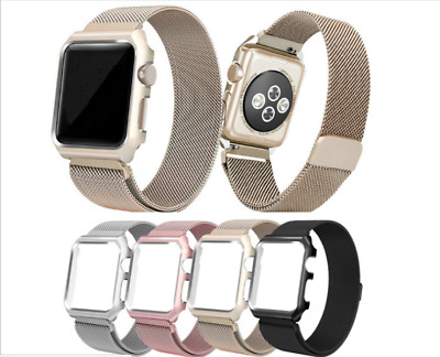 $ CDN10.89 • Buy Magnetic Milanese Band Strap With Watch Frame For Apple Watch Series 3 2 1