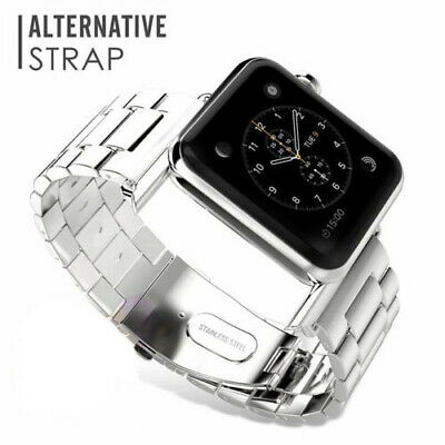$ CDN12.99 • Buy 3-Beads Stainless Steel  Watch Wrist Band Starp For Apple Watch Series 5 4 3 2 1