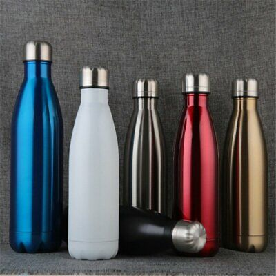 AU20.99 • Buy 350-1000ML Personalised Water Bottle Metal Steel Vacuum Insulated Chilly Flask