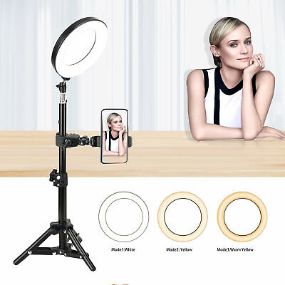 AU29.88 • Buy 6  Ring Light With Phone Holder For YouTube Video And Makeup Mini LED 16CM