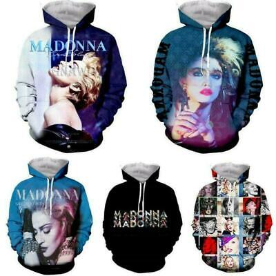 $ CDN23.99 • Buy Star Madonna 3D Print Men Women Hoodie Sweater Sweatshirt  Jacket Pullover Tops