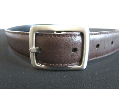 $5.59 • Buy Classic Brow Faux Leather Silver Buckle Boys Kids Belt Size 21 -24