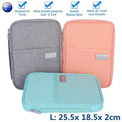 AU12.85 • Buy Waterproof Passport Holder Travel Document Wallet Bag Family Case Card Organizer