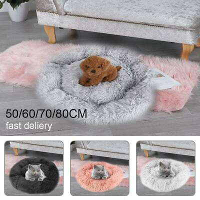 AU29.99 • Buy Dog Pet Cat Calming Bed Beds Large Mat Comfy Puppy Fluffy Donut Cushion Plush AU