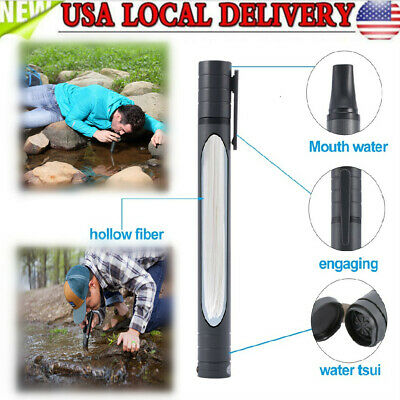 $6.55 • Buy Outdoor Water Purifier Camping Hiking Emergency Life Survival Portable Purifier