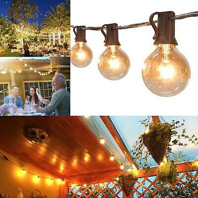 50 FT Outdoor Festoon Globe String Fairy Lights G40 Bulbs Garden Wedding Home • 22.49£
