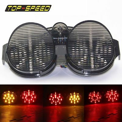 $24.42 • Buy Smoke Integrated LED Tail Light Turn Signals For Yamaha YZF R6 YZF-R6 2001 2002
