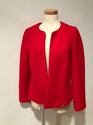 $24.95 • Buy Geiger Austria Red Pure Boiled Wool Jacket Blazer Size 44