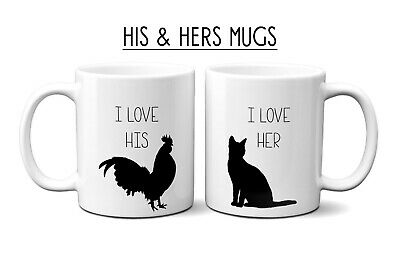 AU34.95 • Buy 11 Oz Coffee Mug Set Of 2 I Love His/hers Valentine's Day Couple Gift Humour