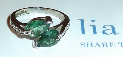 $ CDN27.56 • Buy Lia Sophia  Hazel  2 Green Teardrop Cz Ring - Size 9 - 2008/$78 - Beautiful!